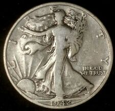 1942-S 50C Walking Liberty Half Dollar har  90% Silver 50 Cents Shipping