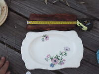 JOHNSON BROS ENG  FLORAL RECTANGLE SANDWICH PLATE GOOD CONDITION