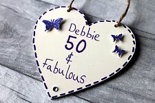 50th Birthday Gifts For Women Wife Sister Friend Personalised for Her Present