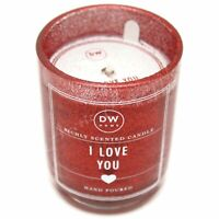 DW Home Richly Scented Hand Poured 3.8 oz Red Glitter Candle - I Love You Scent