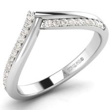 0.20 carat Round Brilliant Cut Diamond Half Eternity Ring Available in 9K Gold