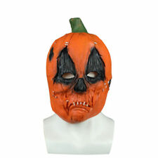 Halloween Scary Evil Pumpkin Latex Rubber Face Mask Cosplay Fancy Horror Props