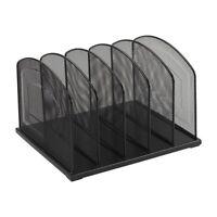 Staples Black Wire Mesh 5-Slot Vertical Sorter 828569