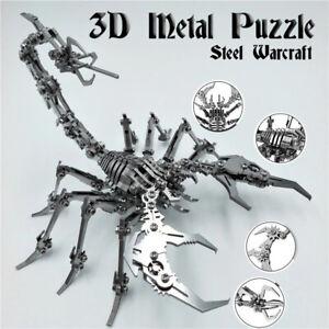 3D Metal Puzzle Steel Warcraft 3D Model Metal DIY Kit Dragon Scorpion Mantis AU
