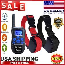 Dog Training Collar Rechargeable Lcd Remote Shock Control Waterproof 330 Yards
