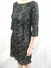 Hoss Intropia Size 40 or 12 Black Lace Cocktail Dress