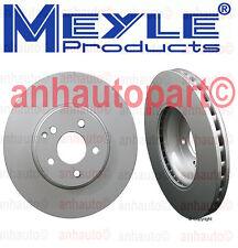 2 Front Mercedes Benz W204 W212 C350 E350 Disc Brake Rotor Meyle 40433034
