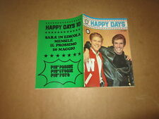 HAPPY DAYS N°9 TV CLUB EDIZIONI FLASH 1979 ALL'INTERNO POSTER DI LUCIO DALLA
