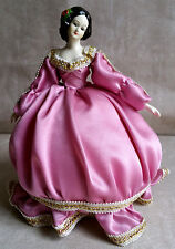 Vnt Victorian Bradley Dolls Music Box Crinoline Pink Silk Dress Paul Mauriat