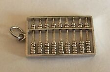 Vintage Sterling Silver Movable Chinese Abacus Charm