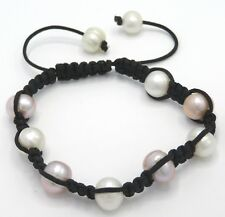 Pearl Freshwater Cultured Pearls Large White Lilac Beads Bracelet