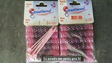 Bigoudis diamètre 12 = 1.2 cm , brosse soie + pic,12 bigoudis + 12 pics,France