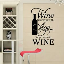 Red Wine Wall Sticker Home Art Kitchen Decoration Decal Removable Decor Vinyl