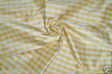BARANZELLI SCALAMANDRE LUCIA FRENCH COUNTRY SILK CHECK FABRIC 30 YARDS YELLOW