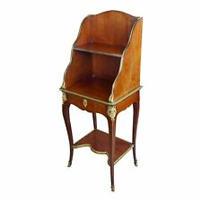 Louis XVI Mahogany & Bronze Ormolu French 3 tier End Table