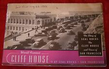 Circa 1940's - World Famous - Cliff House - Views of San Francisco - Seal Rocks