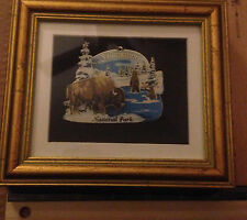 Metal 3D Souvenir Framed ~ Yellowstone National Park