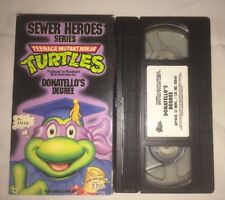 Teenage Mutant Ninja Turtles - Donatello's Degree (VHS, 1991) TMNT RARE