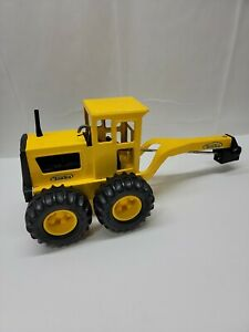 """Tonka 16180 Metal Road Grader Tractor Toy 17"""" Pressed Steel *Missing front Tires"""