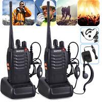 2Pcs BaoFeng Walkie Talkie BF-888S UHF 400-470MHZ 2-Way Radio 16CH Long Range RF