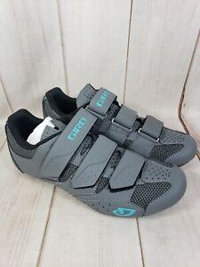 Giro Techne W Womens 8.5 Road Cycling Shoe 40 EUR Titanium/Glacier New 8 1/2