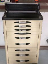 Antique Art Deco Wood & Metal Medical Dental Dentist Doctor's Cabinet, Hair Cart