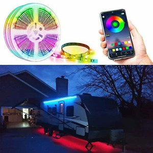 RV Camper Motorhome Travel Trailer 16.4' LED Awning Party Light Mounting Channel
