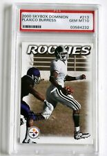 PLAXICO BURRESS 2000 SKYBOX DOMINION PSA 10 Gem STEELERS GIANTS Super Bowl XLII