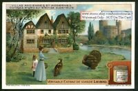 English Cottage On A River Family Birds Castle  c1915 Trade Ad  Card