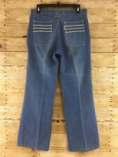 Vtg Retro Levis 70s 80s Jeans Wide Boot Cut Mens 31x29 Light Wash White Tab