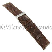 24mm Speidel Brown Alligator Matte Genuine Leather Square Tip Mens Watch Band