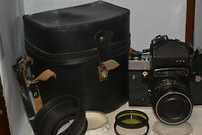 The Soviet camera Kiev-60 type Pentacon sirc 6x6  objective MC Volna-3 2,8 / 80