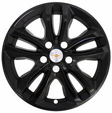 "4 Black 2016 2017 2018 Malibu LT Hybrid 17"" Wheel Skins Hub Caps Full Rim Covers"