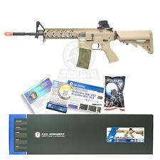 G&G CM16 Combat Machine Raider Long Airsoft RIS M4 M16 AEG Rifle Gun Tan