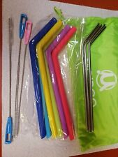 Reusable Bubble Tea and Metal Straws, Assorted