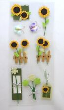 Sunflower and Butterfly Sticker Pack, Lovely detail, cardmaking, scrapbooking