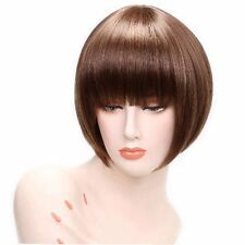 LMJF430 short new  charm style straight medium brown women health hair wigs wig
