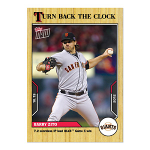 2021 Topps Now Turn Back the Clock #202 Barry Zito San Francisco Giants PRESALE