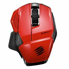 MAD CATZ RAT M Wireless PC MAC & Android Programmable Office Mouse * NEW Red