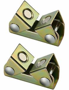 2 Pcs Magnetic Angle Welding Clamps Steel Holder Suspender Adjustable Jig Tool