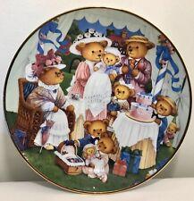 Teddy Bear Birthday Party Plate Carol Lawson Franklin Mint Limited Ed. Porcelain