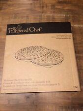 Pampered Chef Microwave Chip Maker Set of 2 #1241 New Sealed