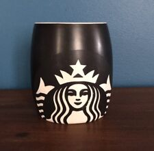 Starbucks Coffee Cup Mermaid Mug Black Etched White Matte Siren Collectible 2001