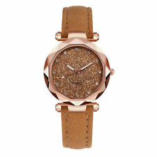 Ladies fashion Korean Rhinestone Rose Gold Quartz Watch Watch Coffee In Gift Box