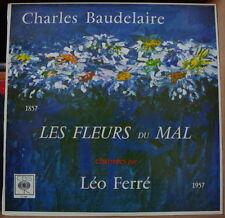 LES FLEURS DU MAL CHANTEES PAR LEO FERRE CBS 63584 BIEM RE-ISSUE FRENCH LP