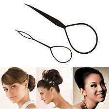 Ponytail Creator Plastic Loop Styling Tools Black Topsy Pony Tail Hair Braid