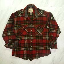 Vintage Woolrich Large Plaid Flannel Button Up Wool Shirt Cruiser