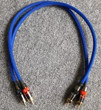 *HIFI Special* Monster/Europa RCA Phono Cable Blue braided 0.4m - Free EU post