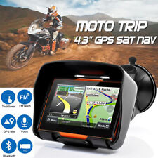 4.3'' Waterproof GPS Navigation Touch Screen Motorcycle Car Navigator 8GB + Maps