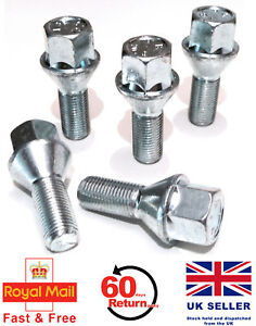 16 Wheel Bolts 12x1.25 Nuts Tapered for Alfa Romeo GTV 3.2 V6 1996 to 2005